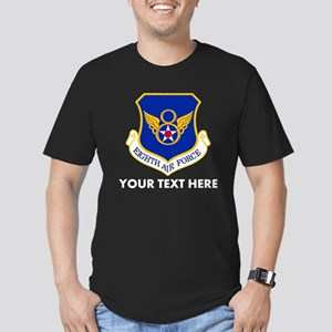 Personalized USAF Eigh Men's Fitted T-Shirt (dark)