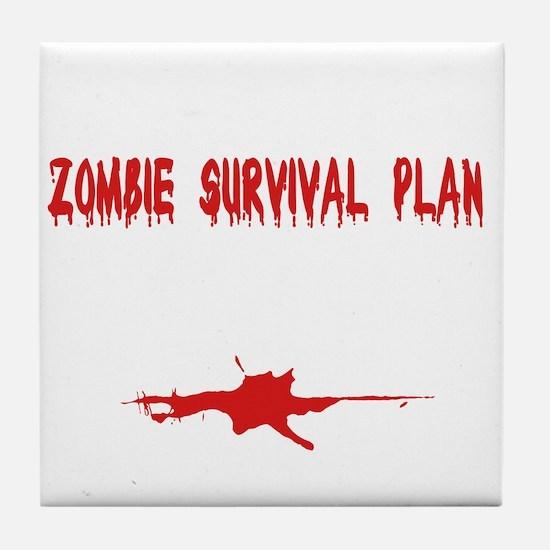 Zombie1_dark Tile Coaster