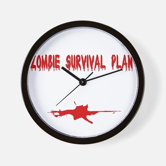 Zombie1_dark Wall Clock
