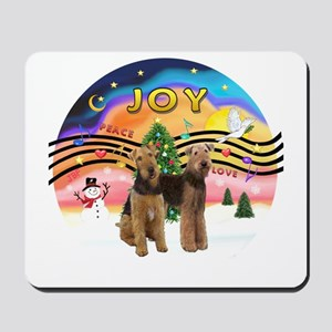 XMusic2 - Two Airedales Mousepad