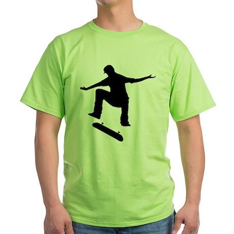 Skateboarding Green T-Shirt