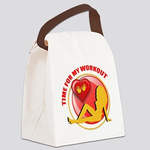 Time for my Workout Canvas Lunch Bag