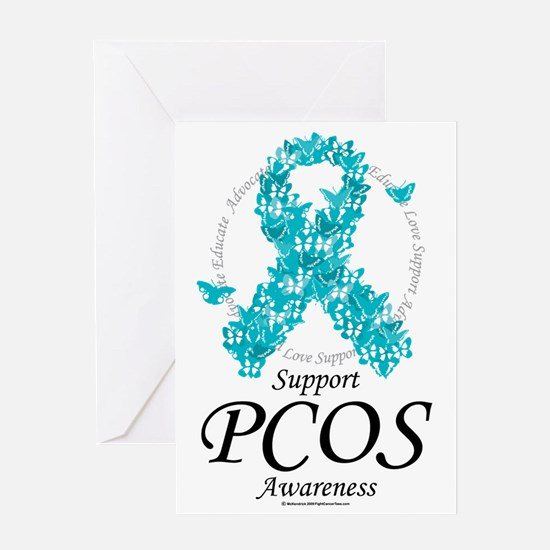 PCOS-Ribbon-Of-Butterflies Greeting Card
