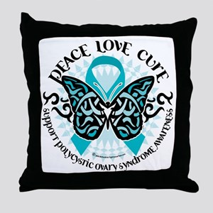 PCOS-Butterfly-Tribal-2 Throw Pillow