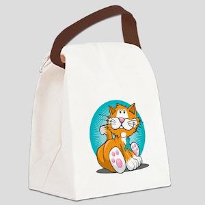 PCOS-Cat-blk Canvas Lunch Bag