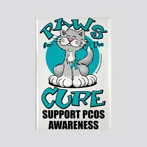 Paws-for-the-Cure-Cat-PCOS Rectangle Magnet