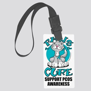Paws-for-the-Cure-Cat-PCOS Large Luggage Tag