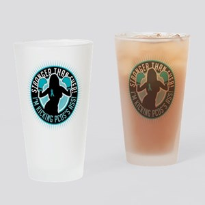 PCOS-Boxing-Girl Drinking Glass