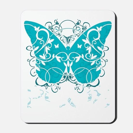 PCOS-Butterfly-BLK Mousepad