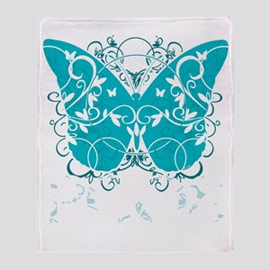 PCOS-Butterfly-BLK Throw Blanket