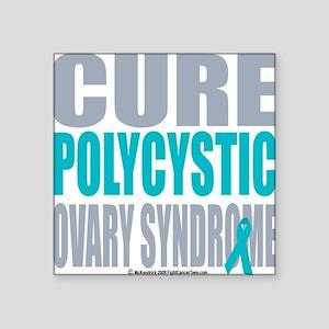 "Cure-PCOS Square Sticker 3"" x 3"""