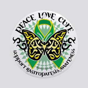 Gastroparesis-Butterfly-Tribal-2 Round Ornament