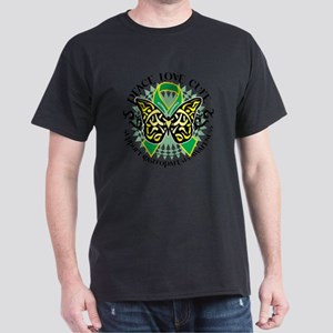 Gastroparesis-Butterfly-Tribal-2 Dark T-Shirt