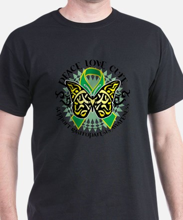 Gastroparesis-Butterfly-Tribal-2 T-Shirt