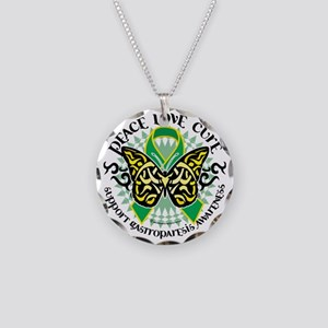 Gastroparesis-Butterfly-Trib Necklace Circle Charm