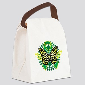 Gastroparesis-Butterfly-Tribal-2- Canvas Lunch Bag