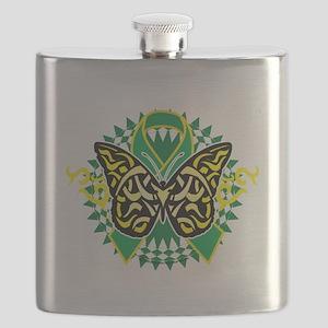 Gastroparesis-Butterfly-Tribal-2-blk Flask