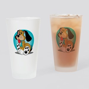 PCOS-Dog-blk Drinking Glass