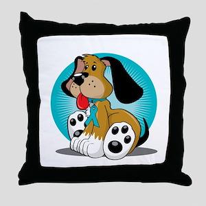 PCOS-Dog-blk Throw Pillow