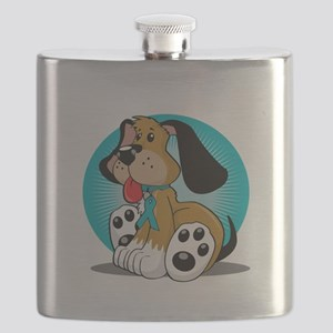 PCOS-Dog-blk Flask