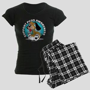 PCOS-Dog-blk Women's Dark Pajamas