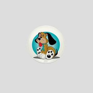 PCOS-Dog-blk Mini Button
