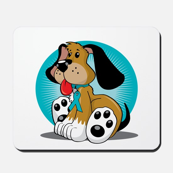 PCOS-Dog-blk Mousepad