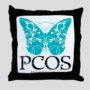 PCOS-Butterfly Throw Pillow