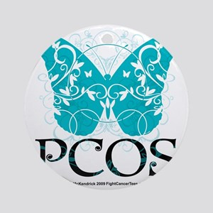 PCOS-Butterfly Round Ornament