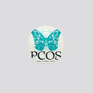 PCOS-Butterfly Mini Button