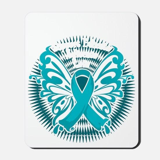 PCOS-Butterfly-3-blk Mousepad