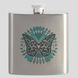 PCOS-Butterfly-Tribal-2-blk Flask