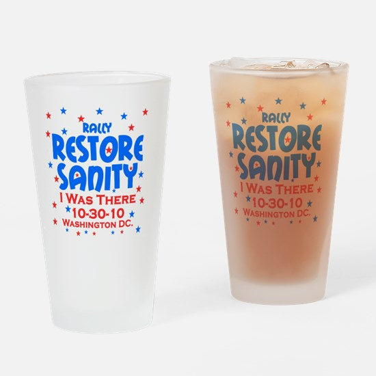 restore sanity Drinking Glass
