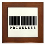 Priceless Barcode Design Framed Tile