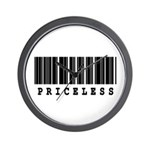 Priceless Barcode Design Wall Clock