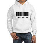 Priceless Barcode Design Hooded Sweatshirt