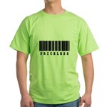 Priceless Barcode Design Green T-Shirt
