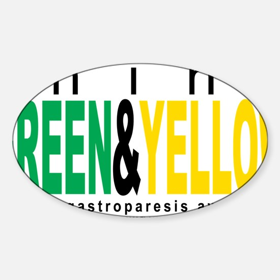 Gastroparesis-THINK-Green--Yellow Sticker (Oval)