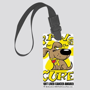 Paws-for-the-Cure-Liver-Cancer Large Luggage Tag