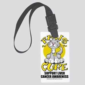 Paws-for-the-Cure-Cat-Liver-Canc Large Luggage Tag