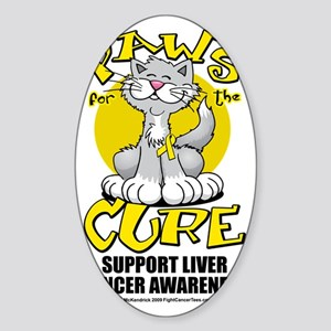 Paws-for-the-Cure-Cat-Liver-Cancer Sticker (Oval)