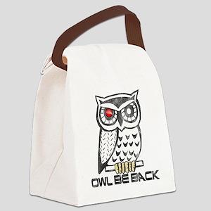 OwlBeBack Canvas Lunch Bag
