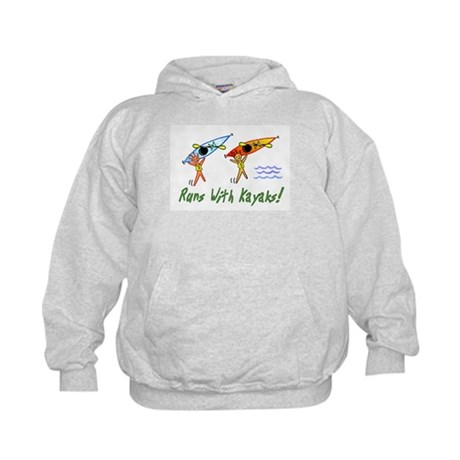 Runs with Kayaks Kids Hoodie