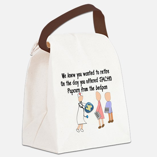 Retired Nurse Story Art Canvas Lunch Bag