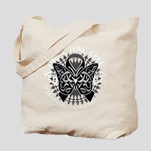 Skin-Cancer-Tribal-Butterfly-blk Tote Bag