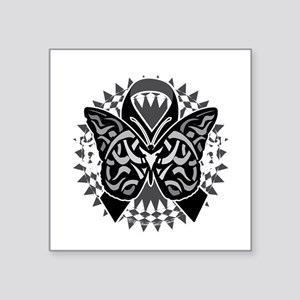 "Skin-Cancer-Tribal-Butterfl Square Sticker 3"" x 3"""