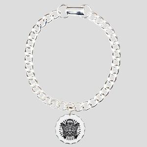 Skin-Cancer-Tribal-Butte Charm Bracelet, One Charm