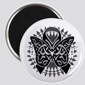 Skin-Cancer-Tribal-Butterfly-blk Magnet
