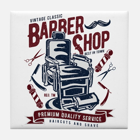 Barber Shop Tile Coaster