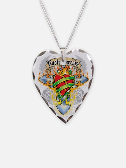 Gastroparesis-Cross--Heart Necklace